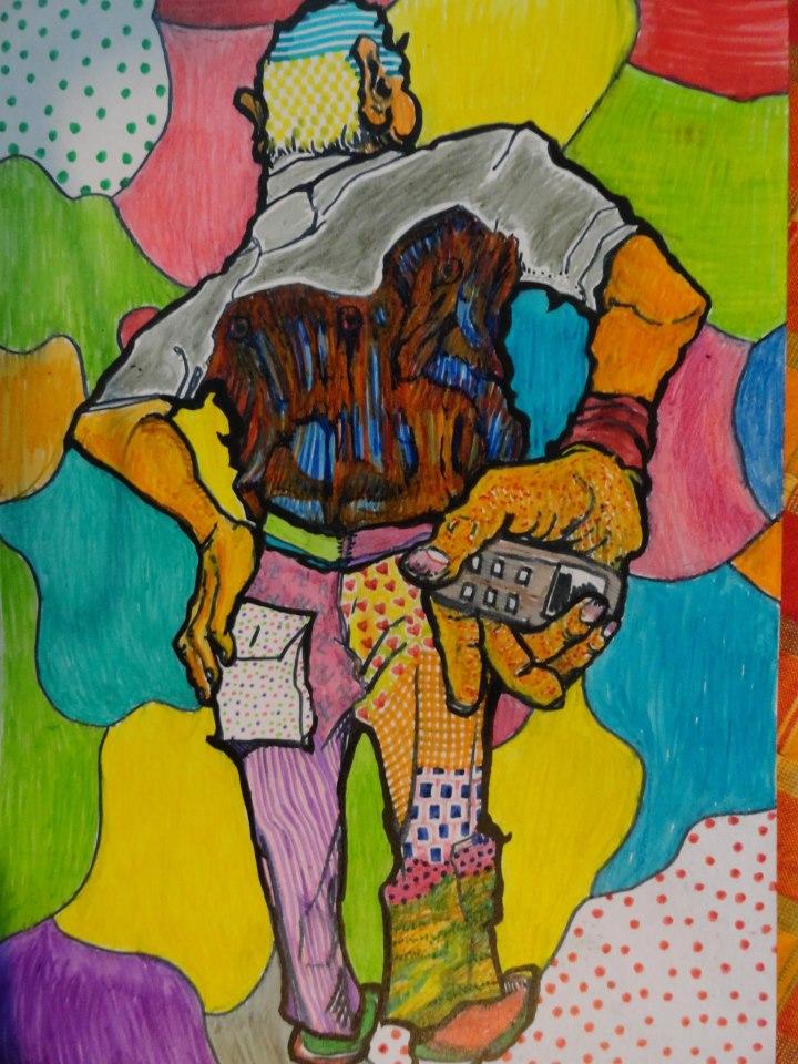 Детската мечта на Кайо е била да стане художник. Това тук е картината му