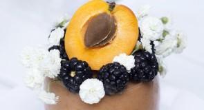 Плодово парфе с кайсии и къпини/ Fruit Parfait with Apricots and Blackberries