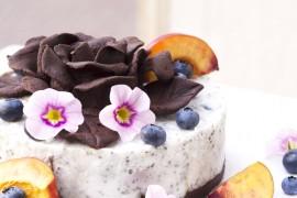 """Торта – пудинг """"Нектарини и боровинки""""/ Cake Pudding 'Nectarines and Blueberries'"""